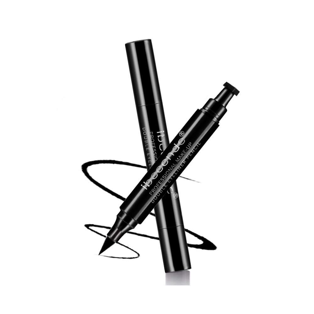 Ibcccndc Winged Eyeliner Stamp 2PCS Waterproof,Easy To Use,Long Lasting,Smudge-proof Winged Long Lasting Liquid Eye Liner Pen (002)