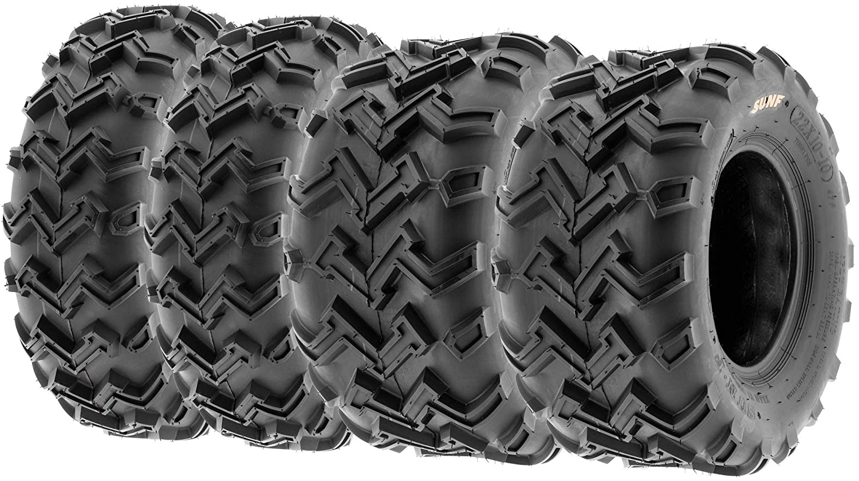 SunF 24x8-12 Front & 24x11-10 Rear 6 Ply ATV/UTV Off Road Tires A001, (Set Bundle of 4)