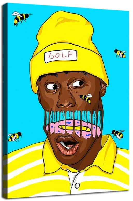 Hxinyi Tyler, The Creator Bees Art Canvas Art Poster and Wall Art Picture Print Modern Family Bedroom Decor