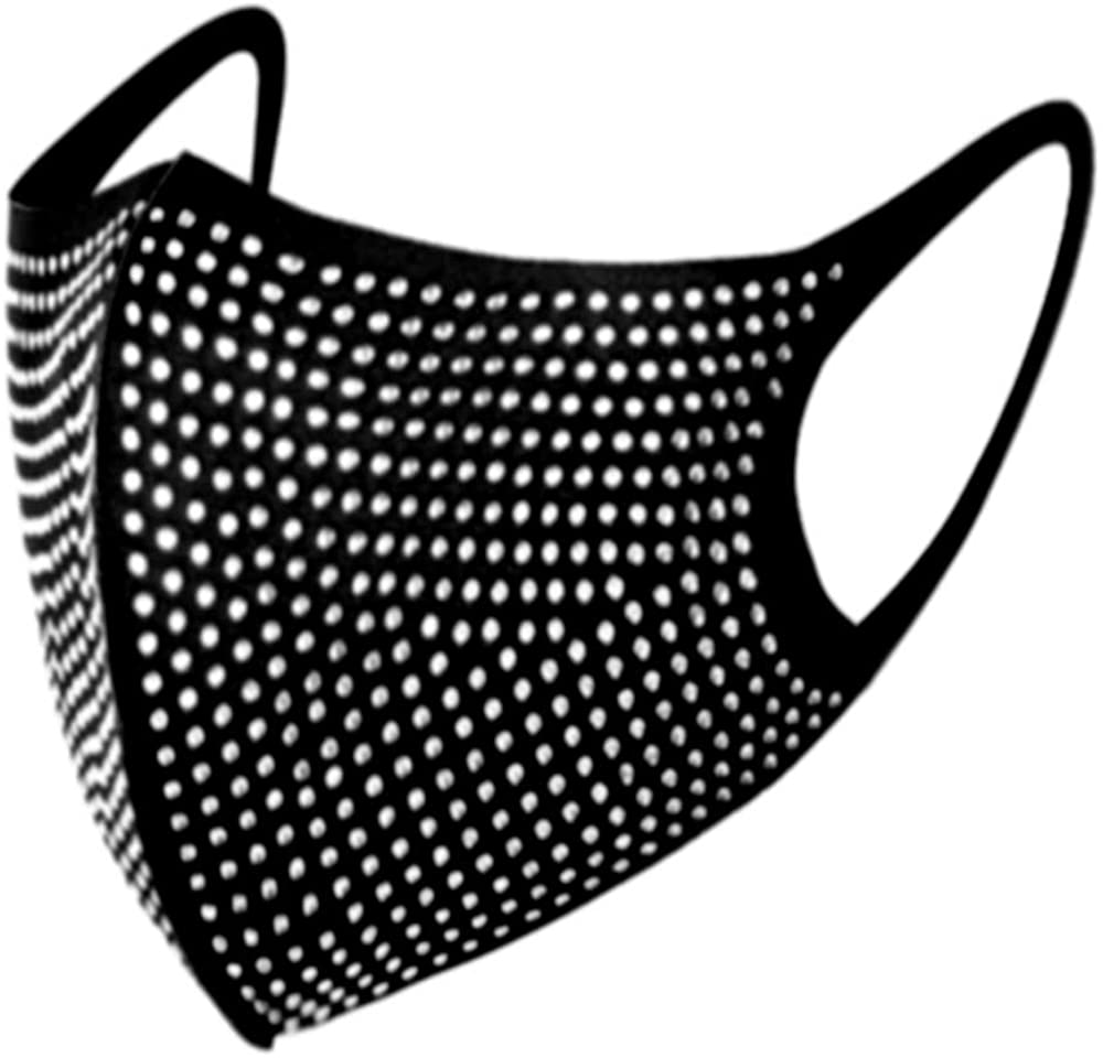 Strobody Rhinestone Mask Sparkling Masquerade Mask Decorative Face Cover