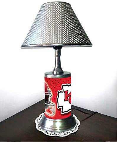 Rico Table Lamp with Shade, Your Favorite Team Plate Rolled in on The lamp Base, KC