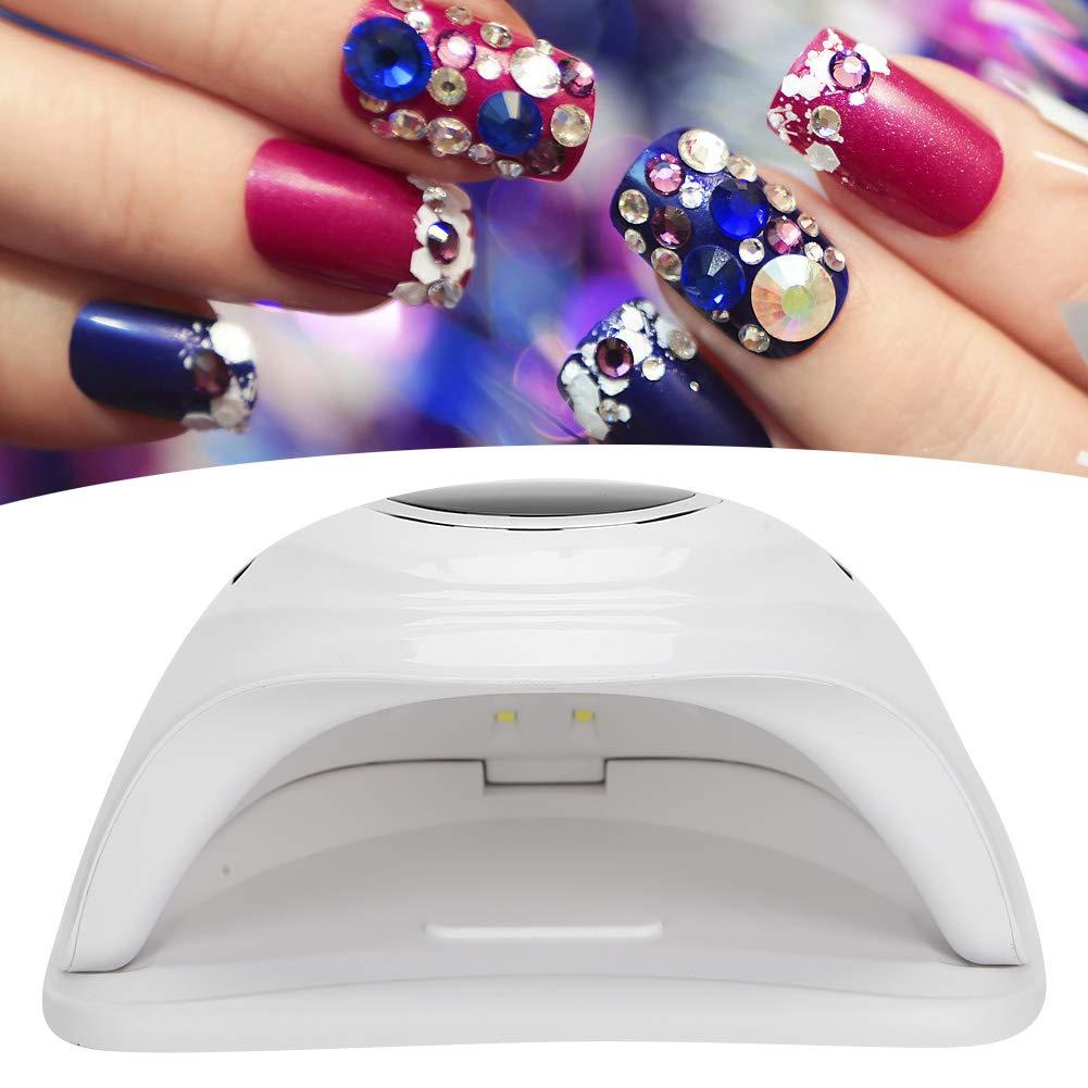UV LED Nail Lamp,168W Professional LED UV Gel Nail Polish Dryer Lamp Household Portable Nail Curing Machine(US)