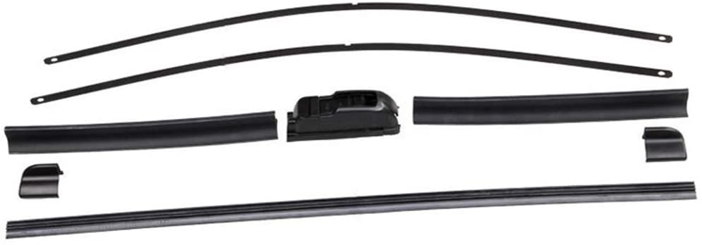 dSNAPoutof Universal Bracketless Rubber Car Front Windshield Wiper Blade Arm Replacement Accessories 17 in