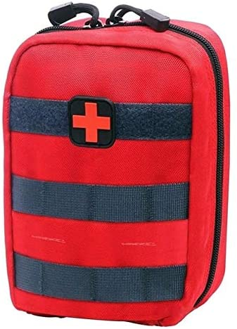 PANYFDD Medical First Aid Kit, Outdoor Survival Medical Cover, Emergency Package Utility Belt Bag Home Outdoor Workplace Office