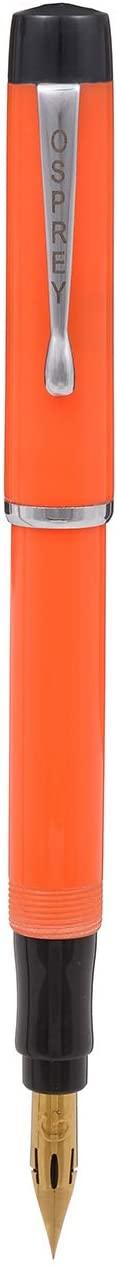 Scholar Fountain Pen Duofold Orange with Standard #6 Fine and Flex Nibs Options (Zebra G Titanium Flex Nib with Custom Converter)