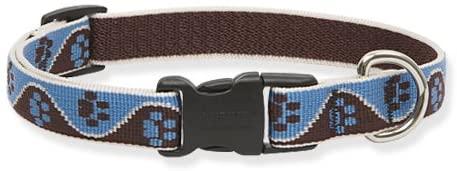 Lupine 3/4-Inch Muddy Paws Adjustable Dog Collar