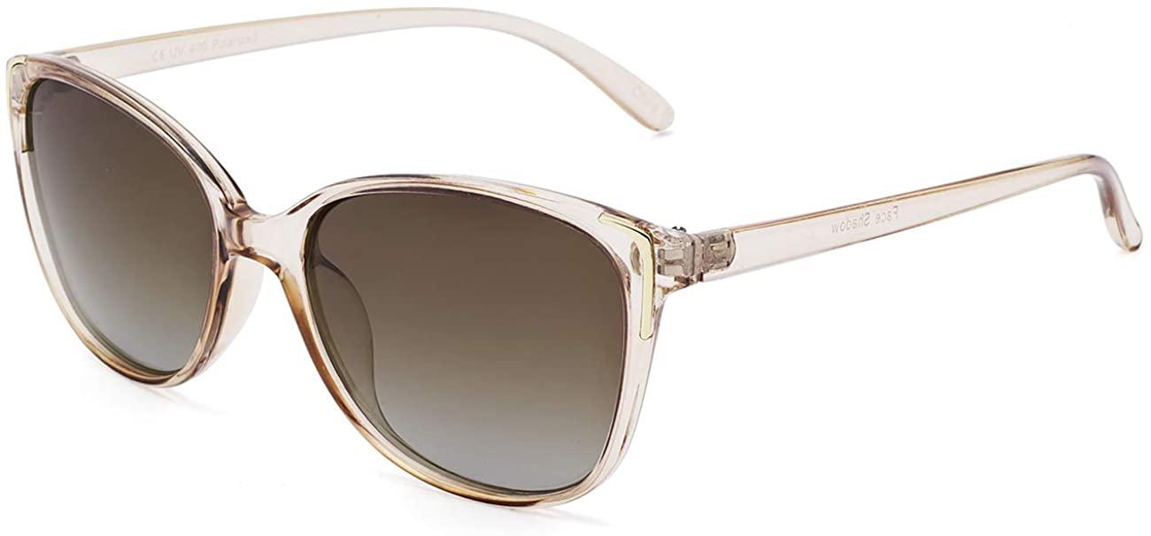 Face Shadow Vintage Retro Cateye Sunglasses for Women