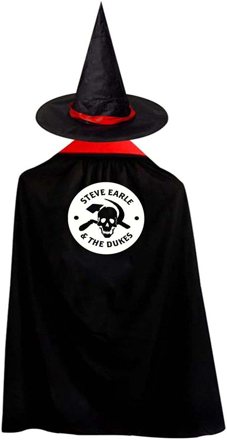 AP.Room Deluxe Halloween Children Costume Steve Earle Wizard Witch Cloak Cape Robe and Hat Set