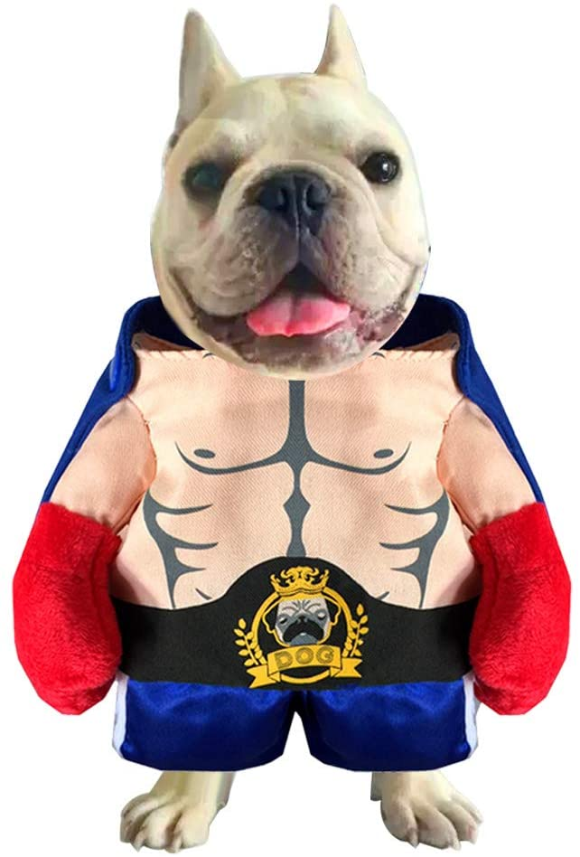 Donald Trump Cat/Dog Costume, Funny President Style Doggie Cosplay American Boxing Heavyweight Champion Outfit Trump Gifts Apparel for Halloween, Christmas, Parties, Festivals Pictures and Events