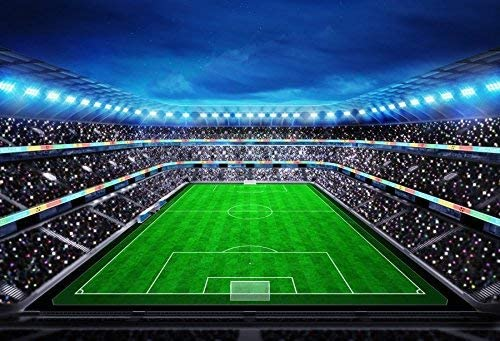 Football Photography Backdrops - Soccer Photo Background - 5x3ft Vinyl Football Fields Sports Match Backdrop Picture for Fan Man Adult Boy Kids Portrait Photo Booth Shooting Studio Props