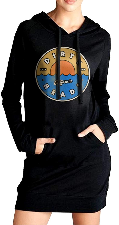 Dirty Heads Womens Long Sleeve Slim Fit Sweater Dress Side Pocket Winter Windbreak