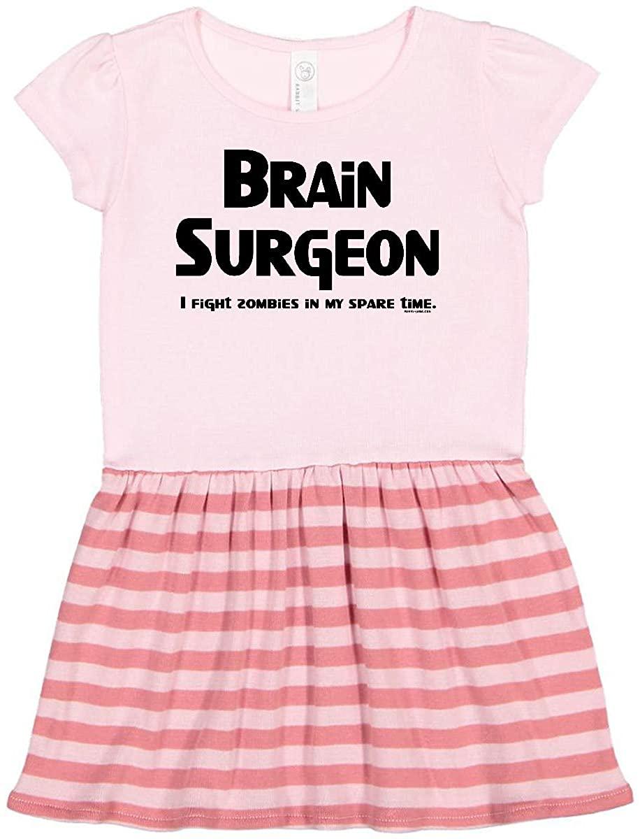 inktastic Brain Surgeon Zombie Fighter Toddler Dress