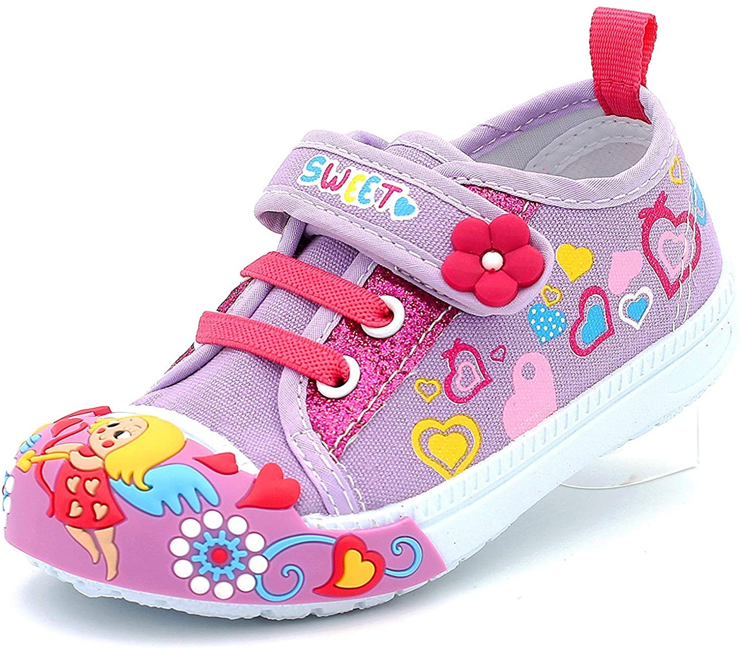 Canvas Sneakers Shoes for Toddler Girls Infant Baby Strap Soft Comfortable Ea.