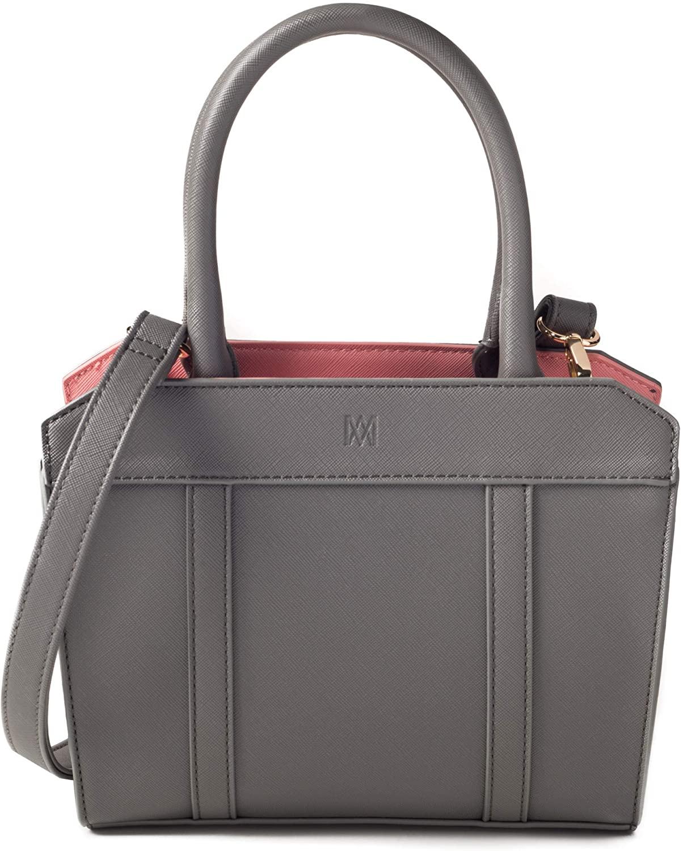 Marsi Bond Saffiano Designer Mini Crossbody Purse-Vegan Faux Leather Handbag