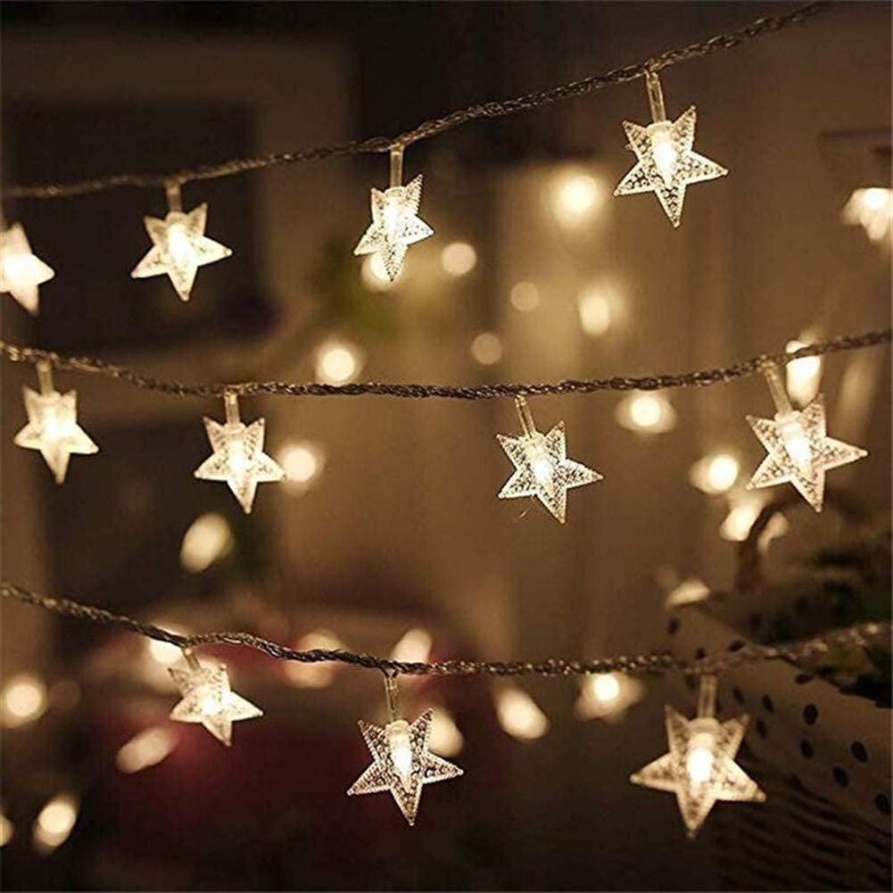 YLJC Decorative Lights Fairy Lights, 1.5m/3m/6m Led Fairy Lights, Star Lights Flashing Garland Battery Powered Christmas Lights for Family Holiday Lighting Decoration Holiday Lights