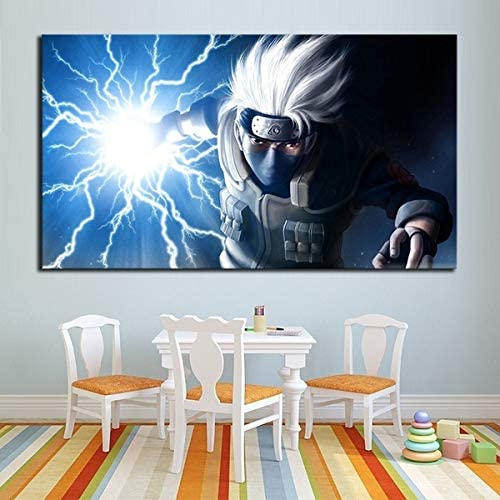 1 Piece No Framed Anime Naruto Hatake Kakashi Poster HD Wall Picture for Children Room (24x48inch-Framed/Ready to hang)