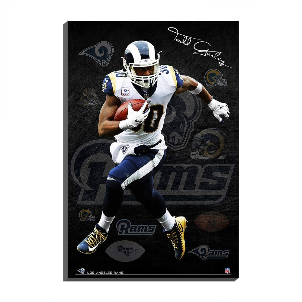 009 Mall Los Angeles Rams Rams Todd Gurley NFL Super Bowl Football Fans Poster Cavans Prints Wall Painting Picture Art Home Decor (No Frame- Canvas roll,120x170cm)