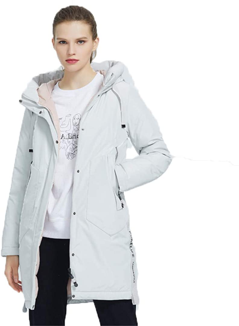 VUCNENFQ Autumn and Winter Womens Coat with A Hood Casual Fashion Winter Parka Clothing