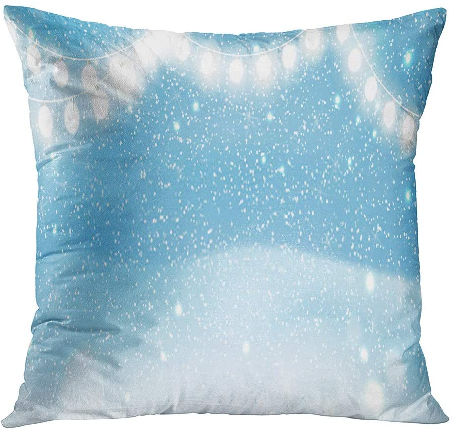 Subently Pillowcase 20x20 Inch Running Woman Runner The Snow in Winter Sunny Day Female Household Easy to Clean and Durable Soft Decorative Polyester Pillowcase Square Sofa