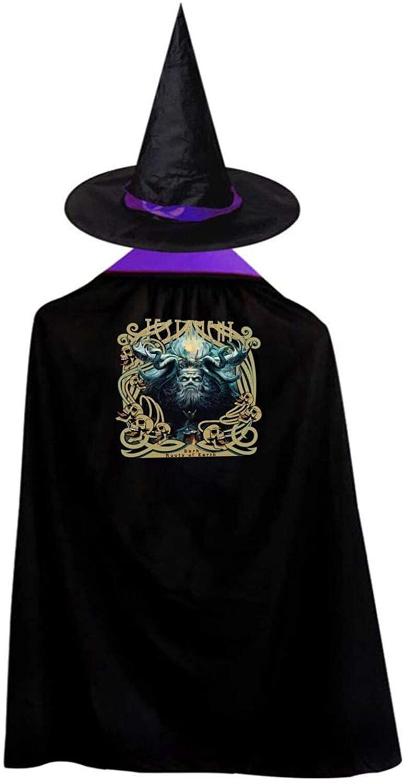 AP.Room Deluxe Halloween Children Costume Testament Wizard Witch Cloak Cape Robe and Hat Set