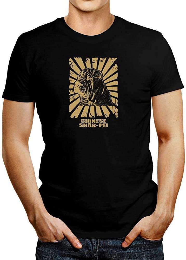 Idakoos Chinese Shar pei Oriental Sun Golden Edition T-Shirt