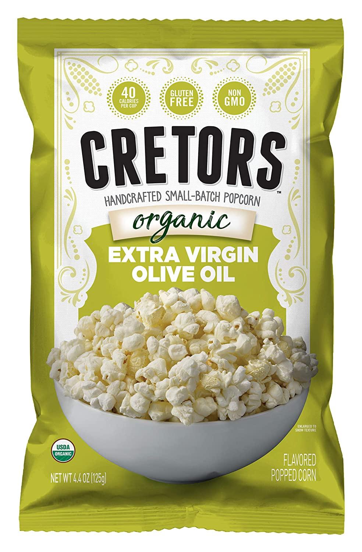 G.H. Cretors Popcorn, Organic Popcorn Extra Virgin Olive Oil, 4.4-Ounce Bags (Pack of 12)