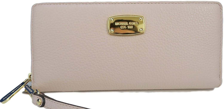 Michael Kors Jet Set Item Travel Continental Leather Wallet in Ballet Pink