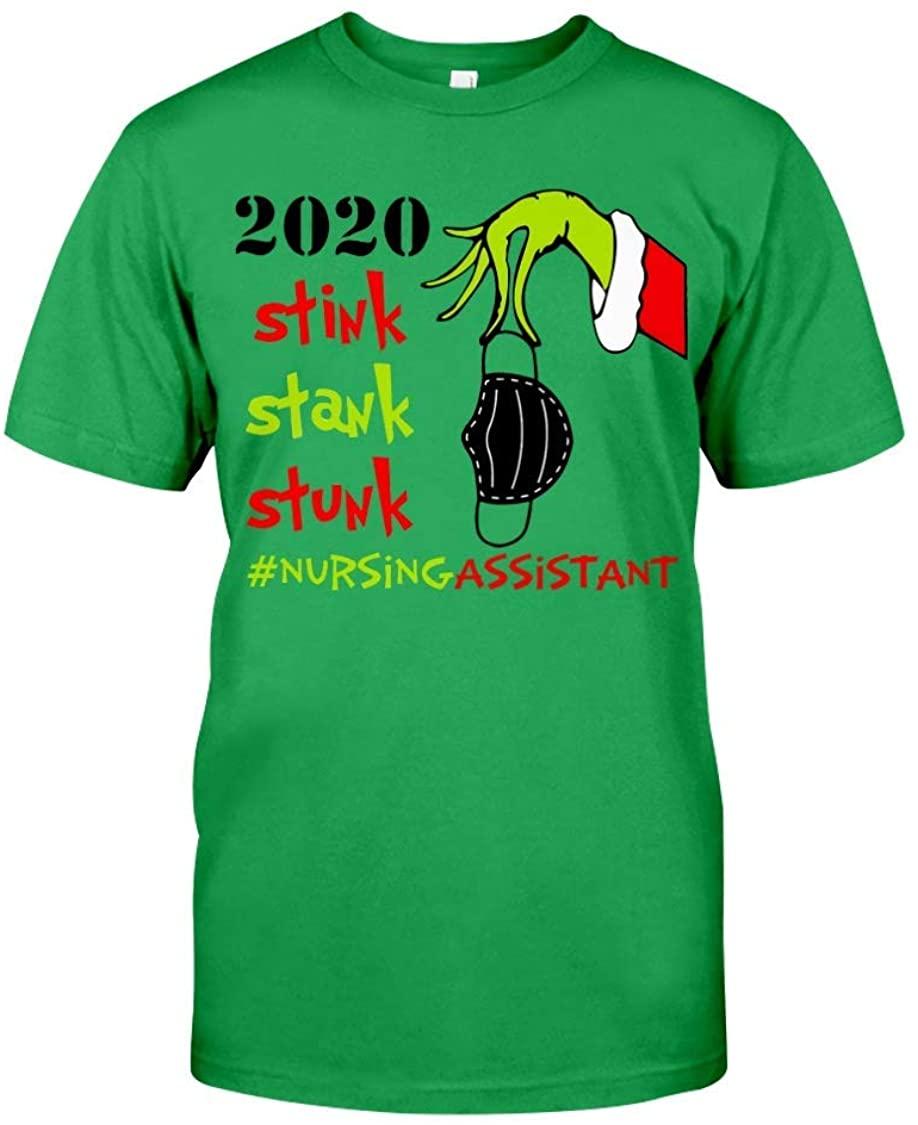 Christmas Grinch Shirt Stink Stank Stuck Nursing Assistant T-Shirt Funny Gift for Men Women