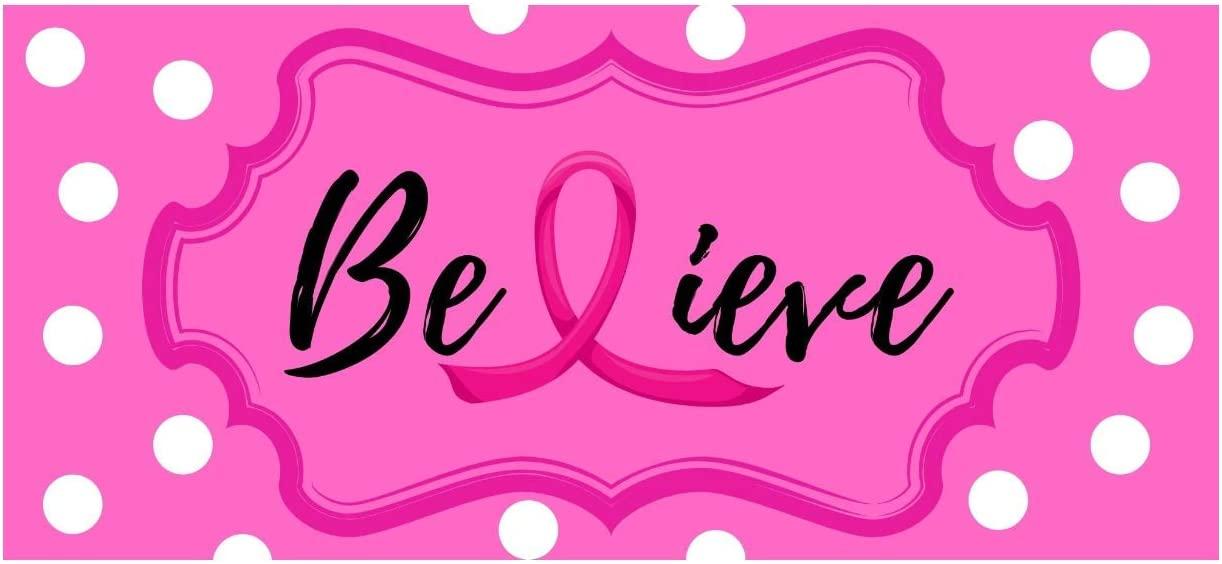 La Flor International Believe - Breast Cancer Sign