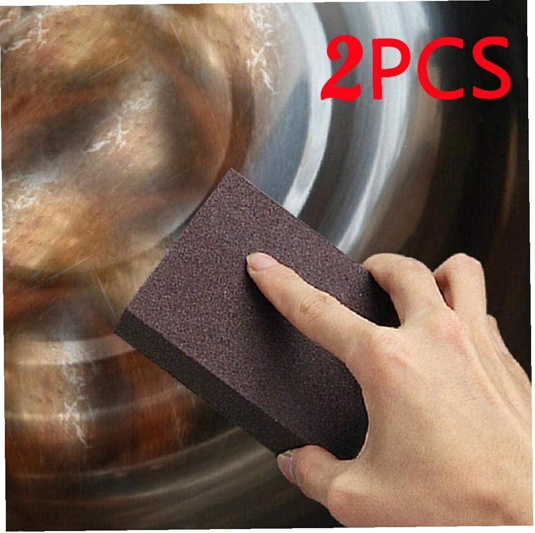 Aisoway Sponge Carborundum Brush Kitchen Home Washing Cleaner Tool 2 Pcs