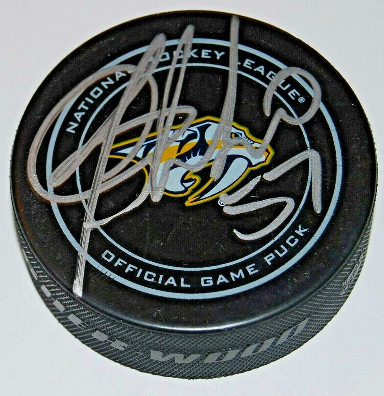 DANTE FABBRO signed (NASHVILLE PREDATORS) Autograph NHL Game HOCKEY Puck W/COA - Autographed NHL Pucks