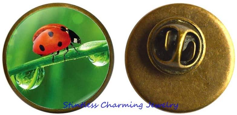 Ladybug Brooch, Ladybird Charm Gift, Ladybird Jewelry, Lady Bug Brooch, Ladybug Gifts, Woman Brooch-JV184