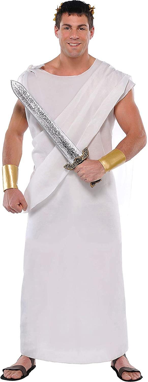amscan 840723 Roman Toga Costume, Adult Standard Size, 1 Piece