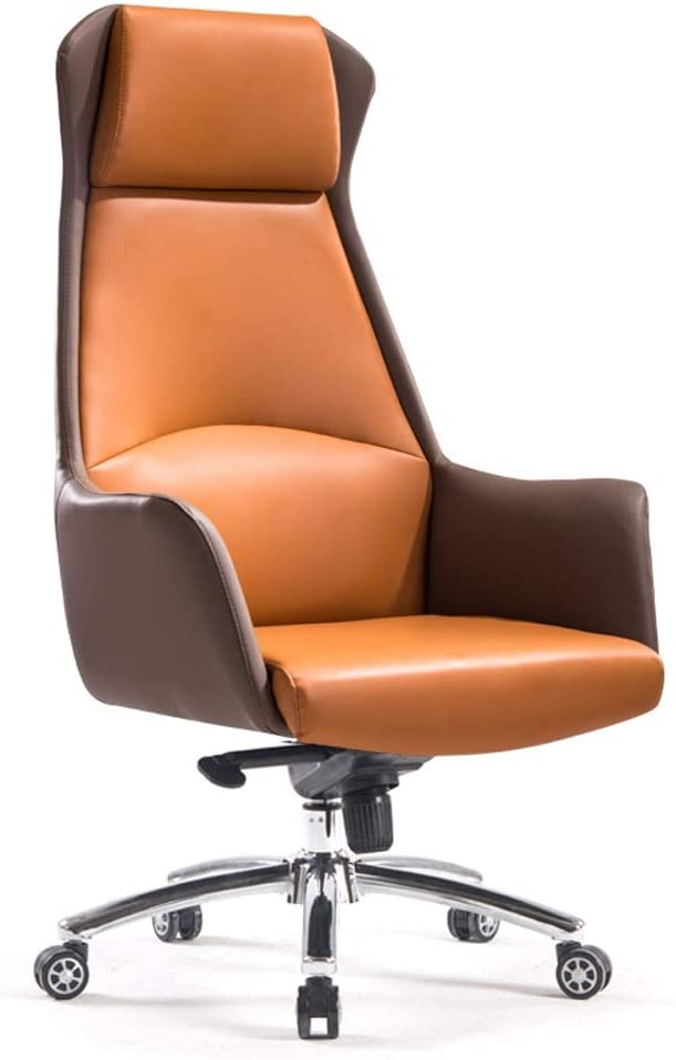Office Chair Office Desk Chair Mid-Back Leather Executive Conference Task Chair Adjustable Swivel Chair with Arms