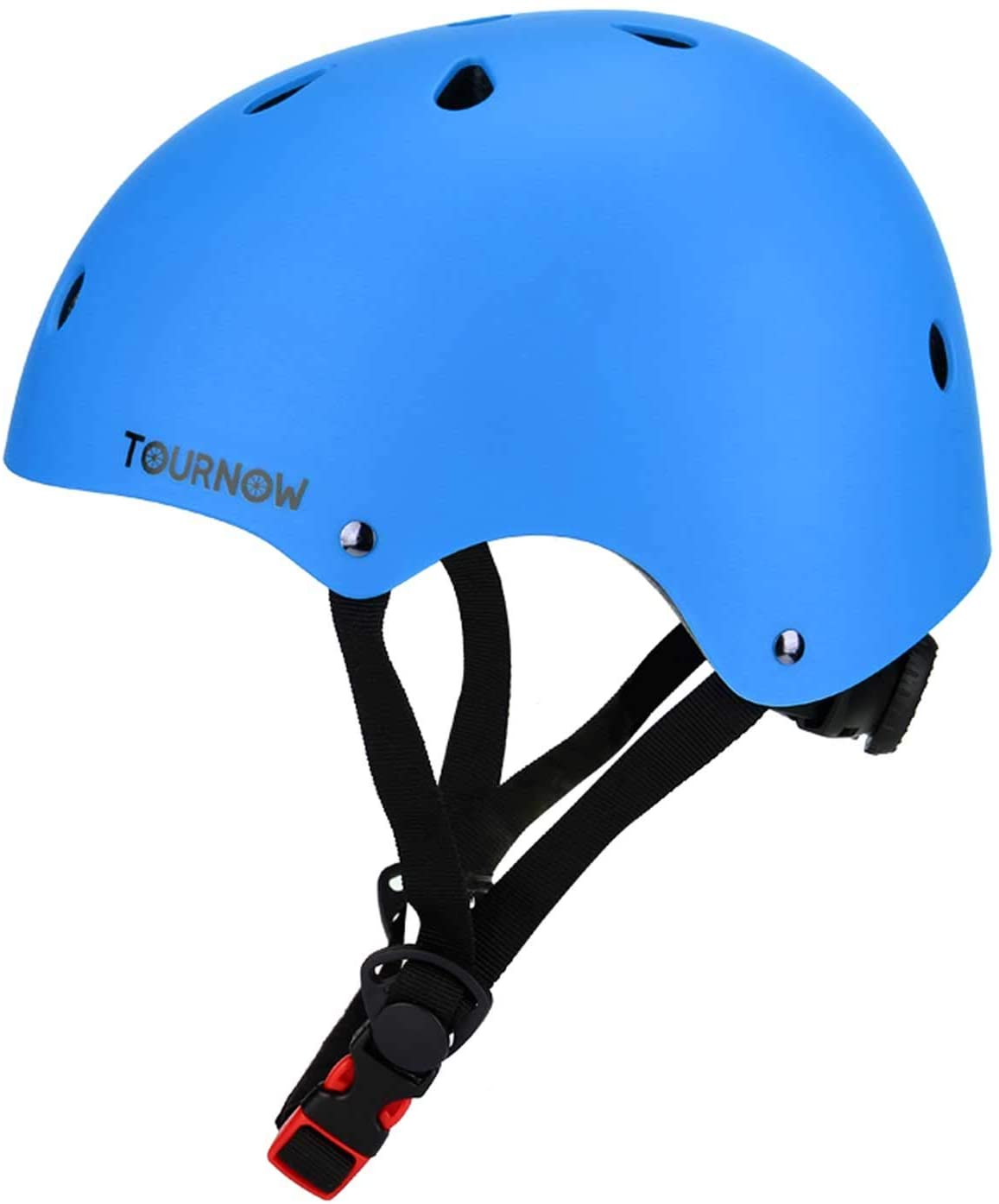 TOURNOW Kids Bike and Skateboard Helmet, 11 Air Vents Adjustable Dial Helmet for Rollerblading Skateboard Cycling Skating Bike Scooter