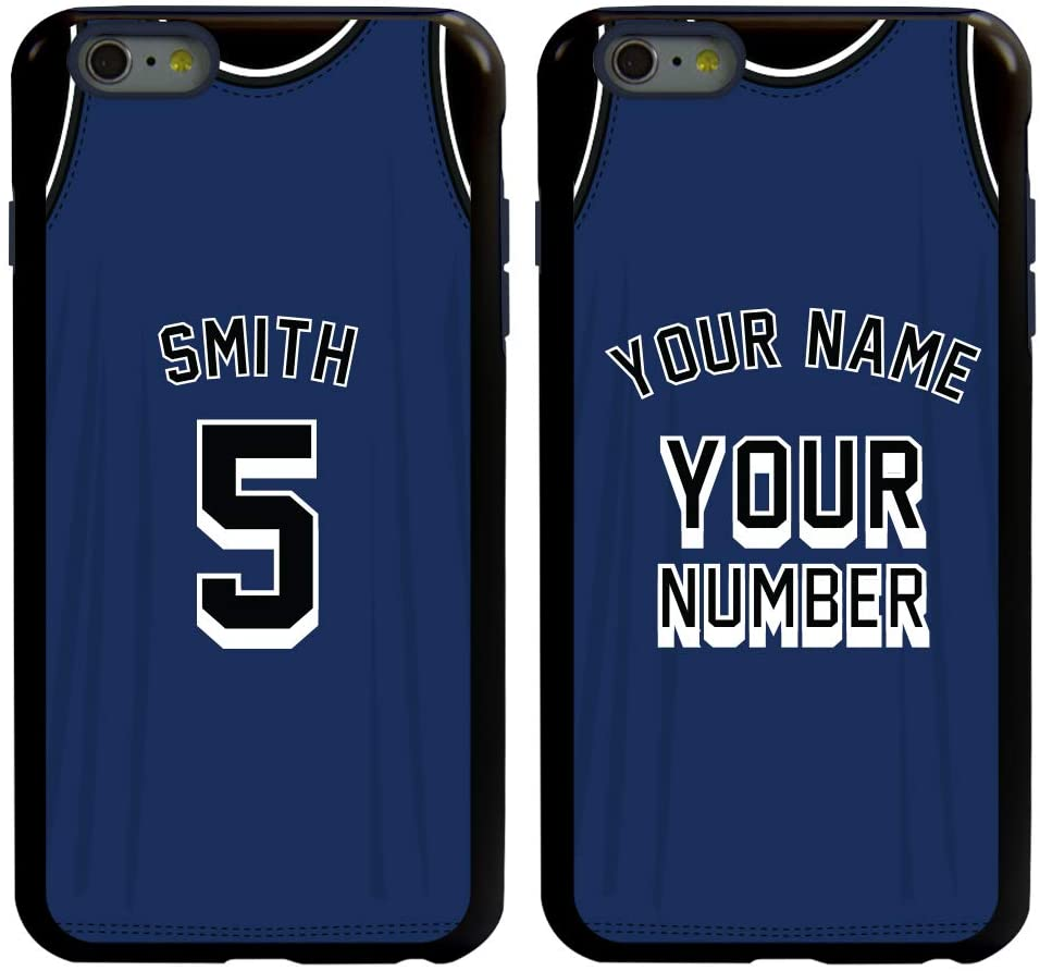 Guard Dog Custom Basketball Jersey Cases for iPhone 6 Plus / 6s Plus Personalized Sports – Your Name and Number on a Protective Hybrid Phone Case.