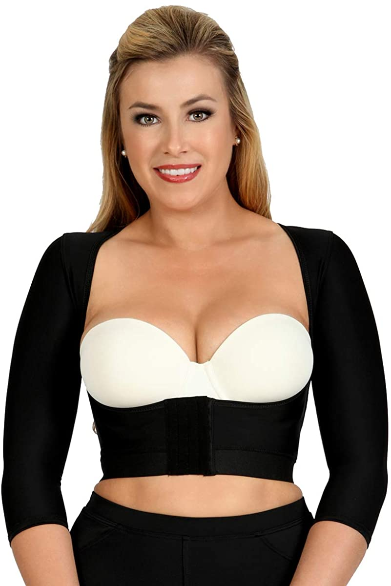 InstantRecovery Womens Compression Shapewear Smooth Sleeved Underbust Crop Top w/Front Zip Post-Surgery Recovery MDSWTL04