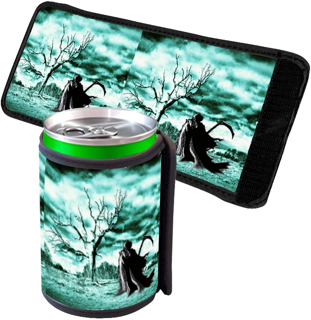 Elements of Space Grim Reaper - Insulated Neoprene Beverage Can Beer Bottle Drink Cooler Sleeve