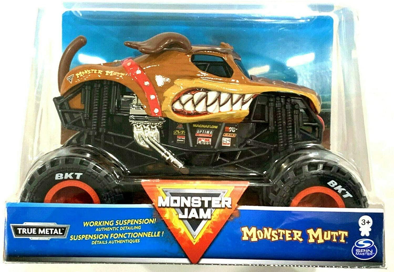 DieCast MonsterJam 2020 Monster Mutt Brown Dog Vehicle Truck [1:24 Scale]