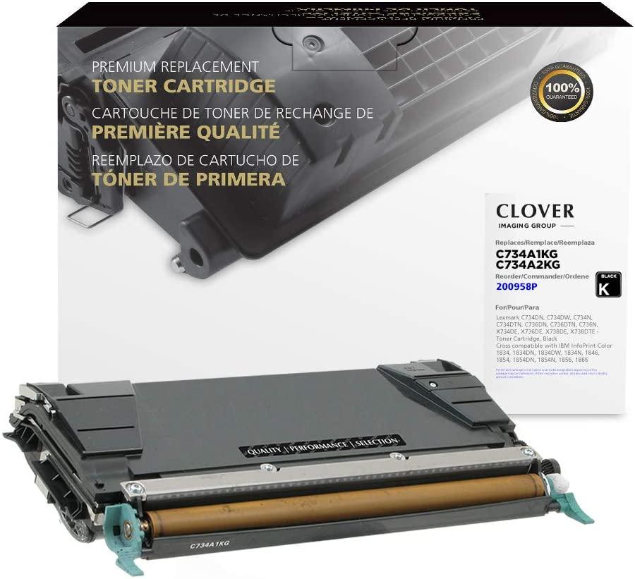Clover Remanufactured Toner Cartridge for Lexmark C734A2KG, C734A1KG | Black