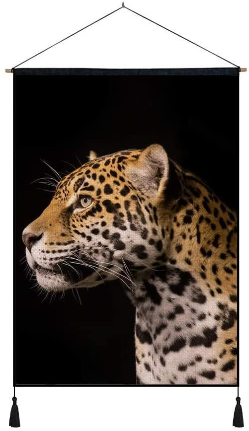 KaoHun Predator Jaguar - Art Print on Canvas Wall Hanging Poster Home Wall Decoration Poster Painting (16x24inch)
