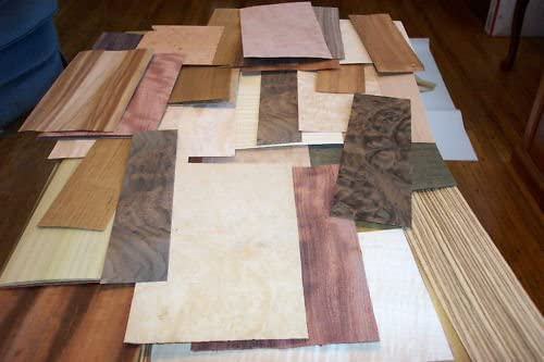 Egytree 50-60 pc.Mixed Exotic and Domestic Wood Veneer 5