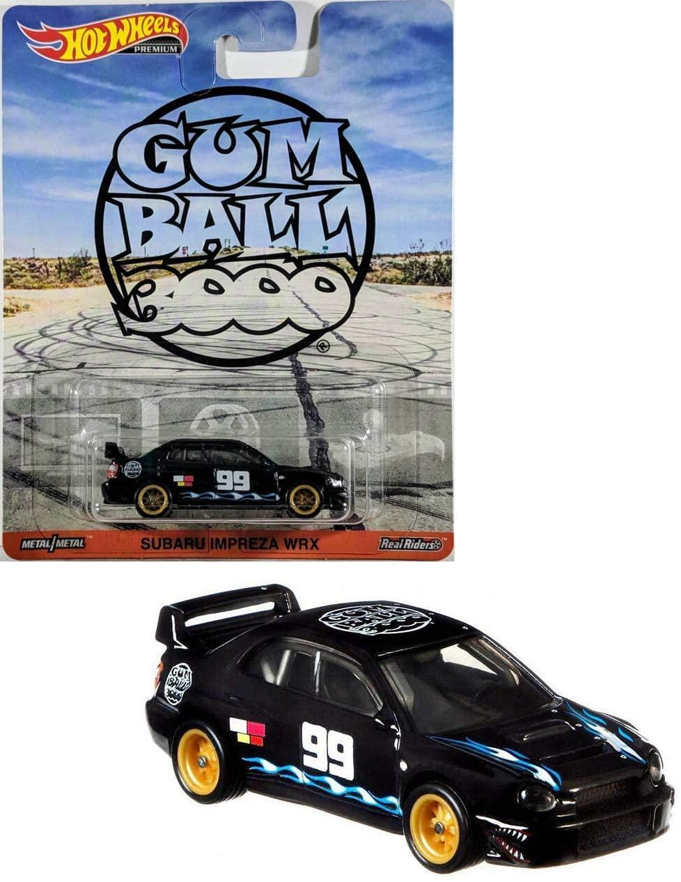 Hot Wheels Gum Ball Booo Premium Sabaru Impreza WRX, Black