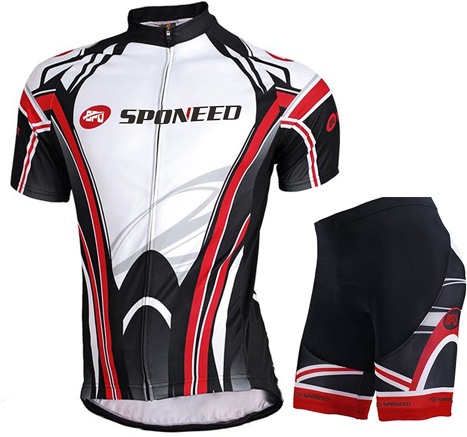 sponeed Cycling Jersey Short Sleeve Men MTB Bike Clothing Road Bicycle Shorts Padded