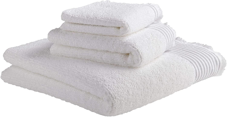 DHgate Brand – Stone & Beam Casual Sleek 100% Cotton Striped Bath Towel, Hand Towel, and Washcloth, Indigo
