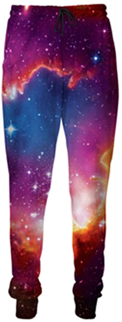 Men Women Space Galaxy 3D Trousers Clothing Color Starry Sky Print Paisley Nebula Joggers Pants