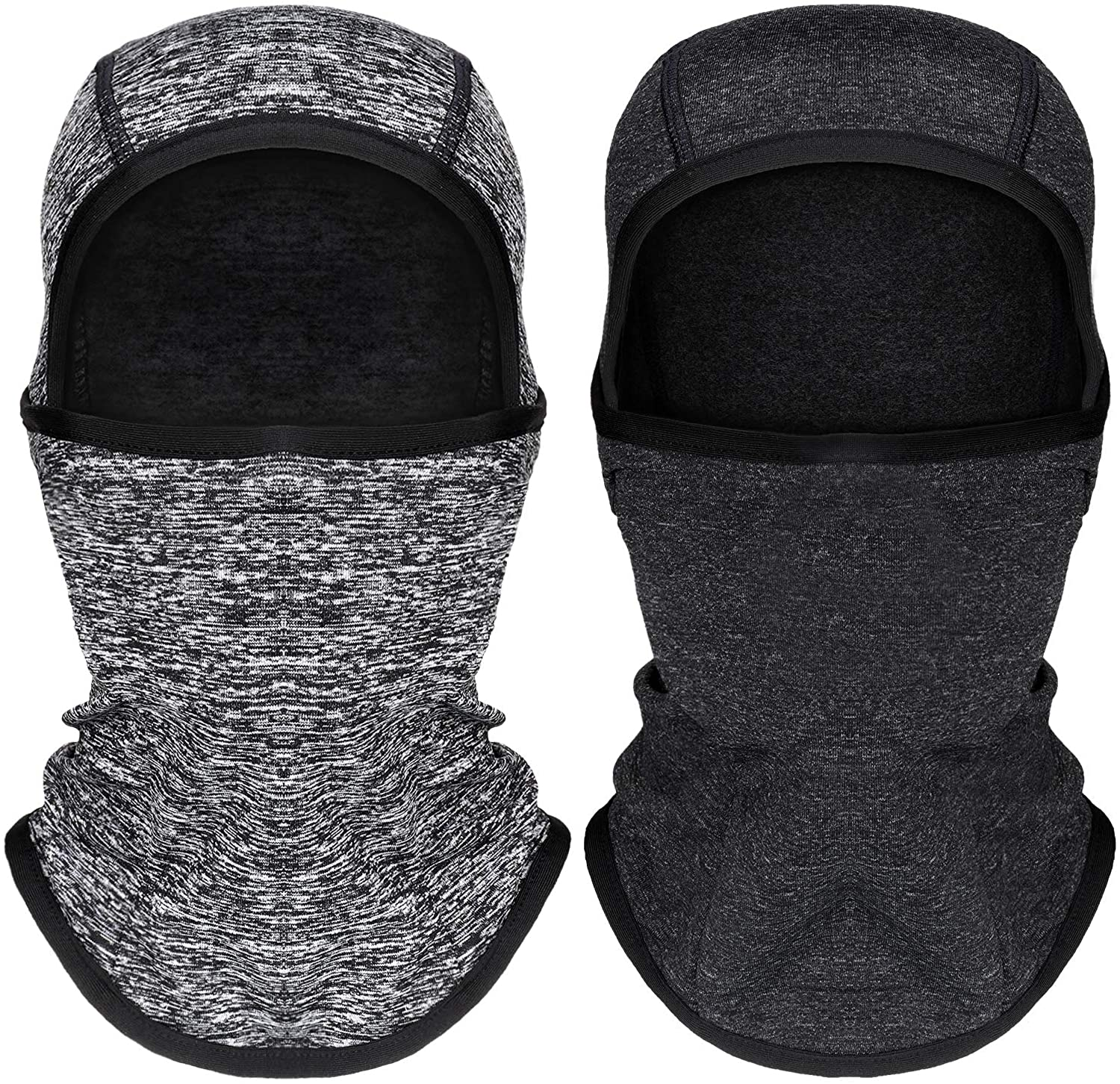 2 Pieces Kids Balaclava Windproof Ski Face Covering for Cold Weather Children Fleece Neck Warmer with Helmet Liner Hood for Boys Girls, 2 Colors