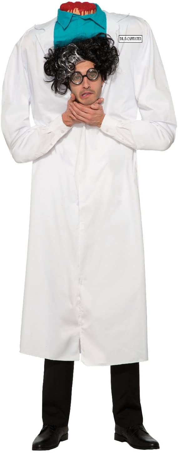 Mens Ladies Adults Dr D'Capitated Beheaded Man Bloody Gory Halloween Horror Scary Zombie Fancy Dress Costume Outfit
