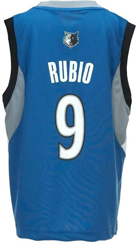 NBA adidas Ricky Rubio Minnesota Timberwolves Youth Revolution 30 Replica Performance Jersey - Slate Blue