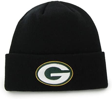 Reebok NFL Classic Cuff Beanie Hat - Black Cuffed Football Winter Knit Toque Cap